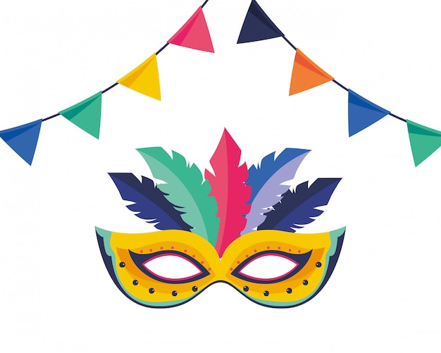 Illustration vectorielle de masque brésil carnaval