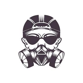 Illustration vectorielle masque à gaz