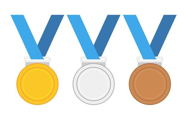 Illustration vectorielle de la médaille d'or