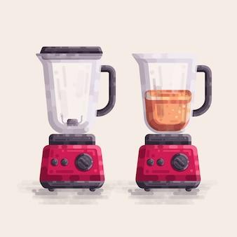 Illustration vectorielle de mélangeur juice mixer machine