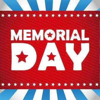 Illustration vectorielle de memorial day design
