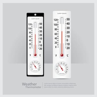 Illustration vectorielle de météo thermomètre isolé