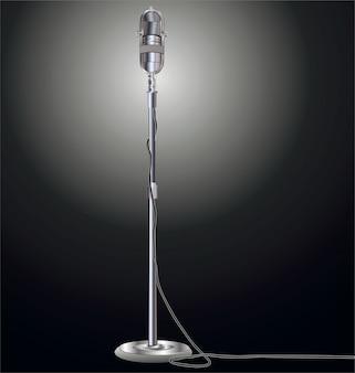 Illustration vectorielle microphone rétro