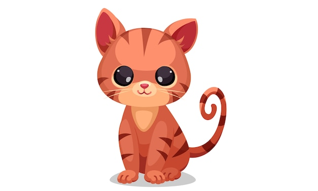 Illustration vectorielle mignon petit chaton