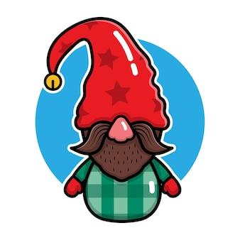 Illustration vectorielle de mignons gnomes dessin animé
