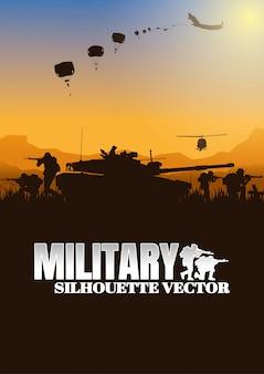 Illustration vectorielle militaire, fond de l'armée.