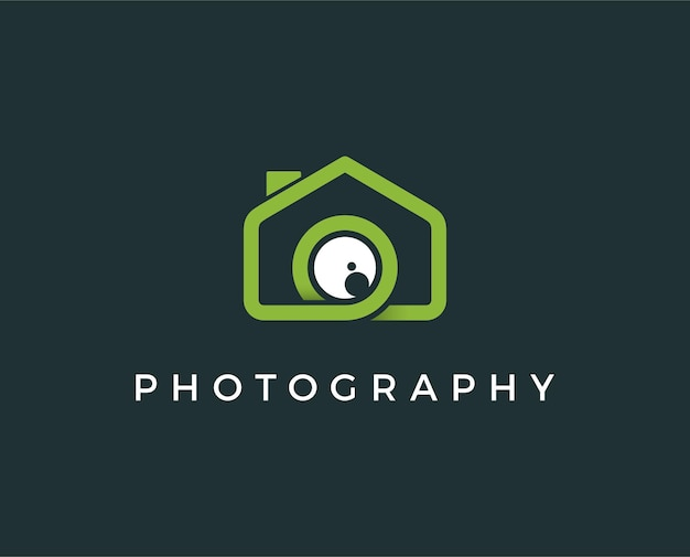 Illustration vectorielle de mini photo maison logo modèle