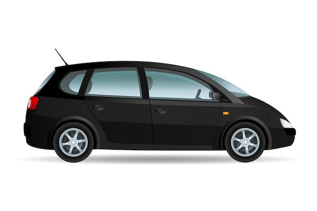 Illustration vectorielle d'un minibus, voiture familiale. design original, pas de marque.