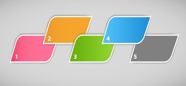Illustration vectorielle de modèle d'affaires infographique