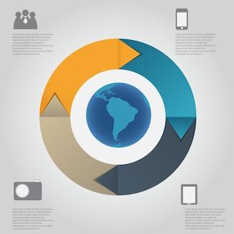 Illustration vectorielle de modèle infographique