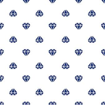 Illustration vectorielle modèle sans couture avec des silhouettes de diamants dirigés de haut en bas