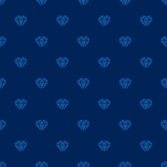 Illustration vectorielle. modèle sans couture avec des silhouettes de diamants sur fond bleu foncé