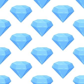 Illustration vectorielle d'un modèle vectorielle continue de diamants