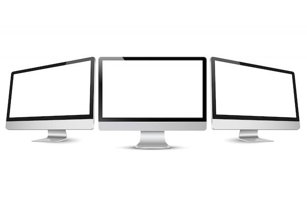 Illustration vectorielle de moniteurs d'ordinateur