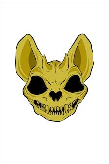 Illustration Vectorielle De Monstre Crâne Vecteur Premium