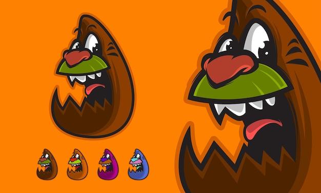 Illustration vectorielle de monstre drôle premium mascotte