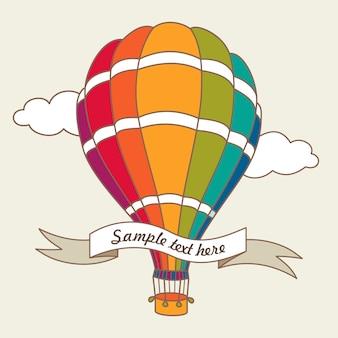 Illustration vectorielle de montgolfière colorée