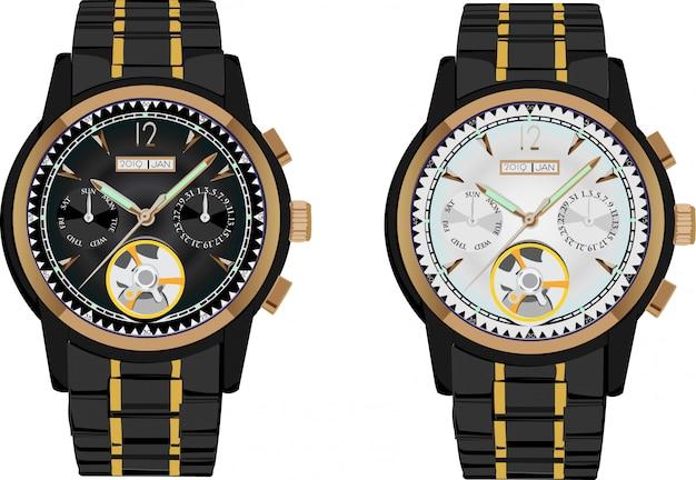 Illustration vectorielle de montre-bracelet