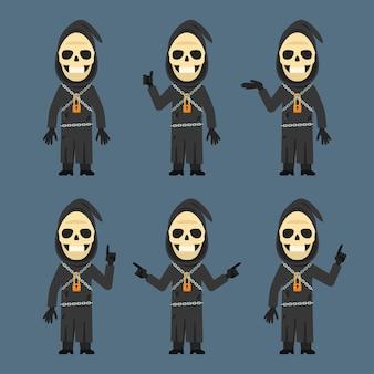 Illustration vectorielle, la mort montre et indique, format eps 10