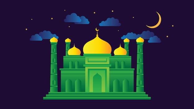 Illustration vectorielle mosquée