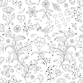 Illustration vectorielle de motif floral sans soudure