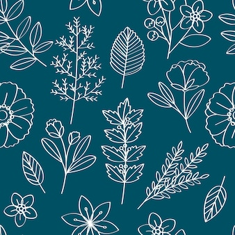 Illustration vectorielle de motif floral