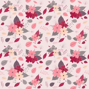 Illustration vectorielle motif rose fleur transparente