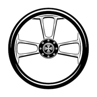 Illustration vectorielle de moto rétro roue. pièce de moto vintage