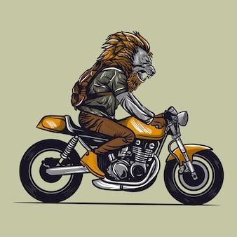 Illustration vectorielle de moto rider