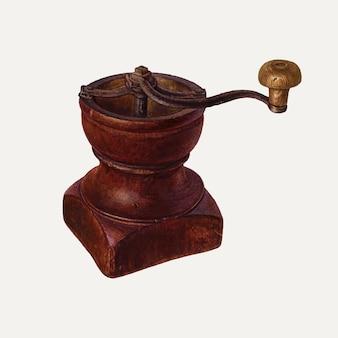 Illustration vectorielle de moulin à café vintage, remixée à partir de l'œuvre de frank mcentee & wayne white