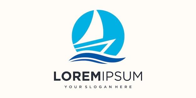 Illustration vectorielle de navire créatif icône logo design.