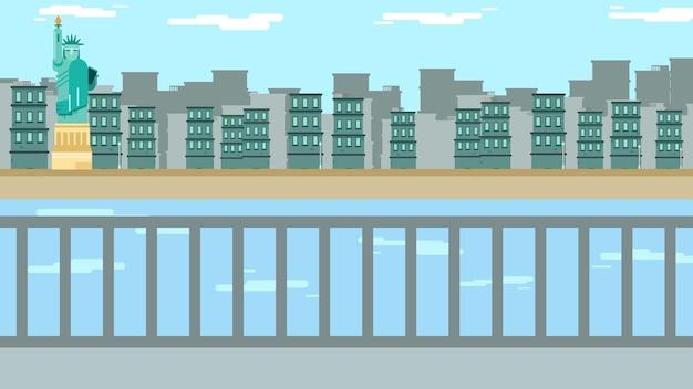 Illustration vectorielle de new york fond