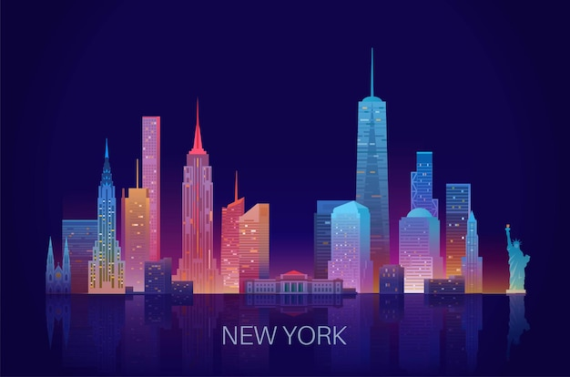 Illustration vectorielle de new york skyline.