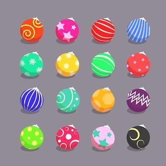 Illustration vectorielle de noël boule décoration