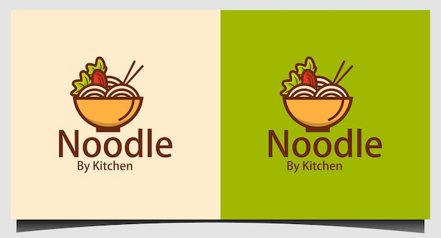 Illustration vectorielle de nouilles logo modèle