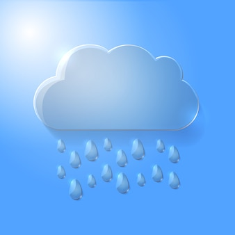 Illustration vectorielle de nuage de verre