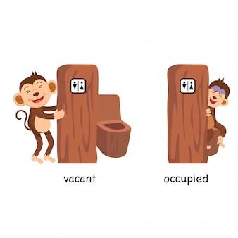 Illustration vectorielle opposée vacante et occupée
