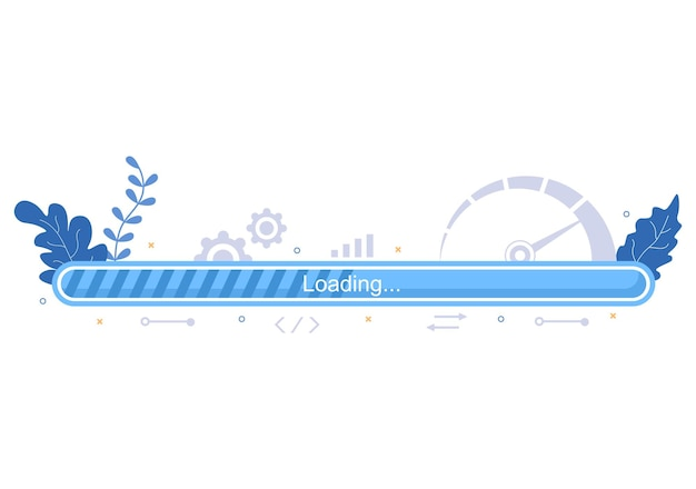 Illustration vectorielle d'optimisation de vitesse de chargement de site web