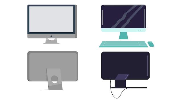 Illustration vectorielle d'ordinateurs isolés