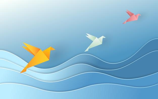 Illustration vectorielle avec origami