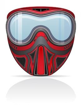 Illustration vectorielle de paintball masque