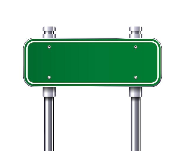 Illustration vectorielle de panneau de signalisation de trafic vert vierge