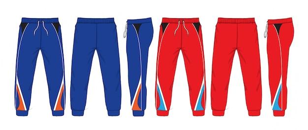 Illustration vectorielle de pantalons de survêtement.
