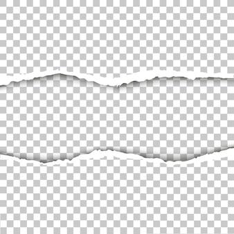 Illustration vectorielle de papier déchiré