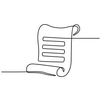 Illustration vectorielle de papier dessin au trait continu