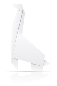 Illustration vectorielle de papier girafe origami