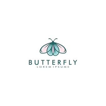 Illustration vectorielle de papillon logo template
