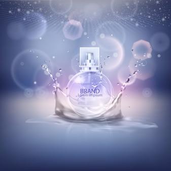 Illustration vectorielle d'un parfum de style réaliste.