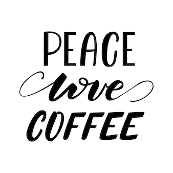 Illustration vectorielle peace love coffee