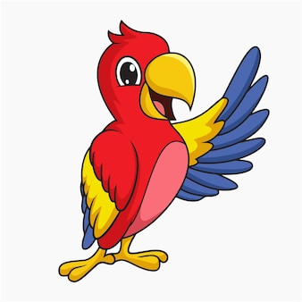 Illustration vectorielle de perroquet coloré